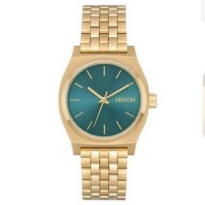 Nixon Watch Medium Time Teller Gold Turquoise
